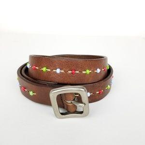 Accessories - Brown beaded belt